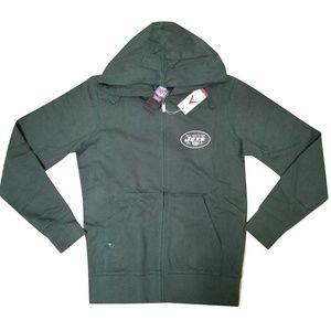 New York Jets Green White Full Zip Hoodie Men's S